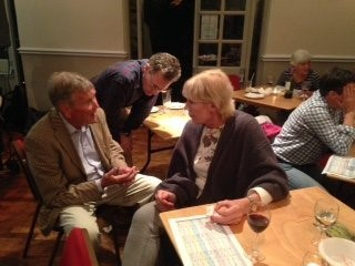 Planning Consultant George Crutcher at Jazz Cafe at The Six Bells, Fulbourn handling enquiries from local residents